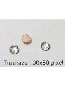 Swar Flat Stone 5mm Clear F Hot Fix