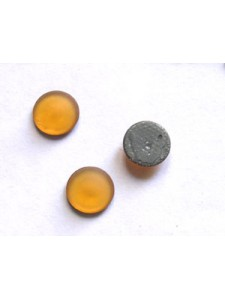 Round flat Stone SS34 Topaz Frosted HF