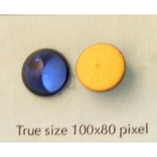 DISC Swar Round Smooth Stone 10mm DkSap