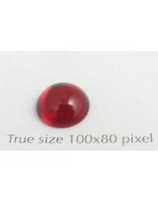 Swar Round Stone Smooth 10 mm Siam Red