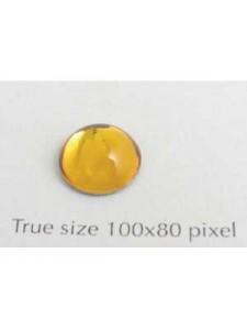 Swar Round Stone Smooth 10 mm Topaz