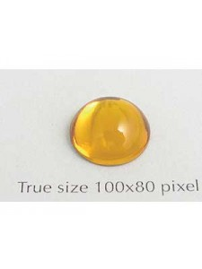 Swar Round Stone Smooth 12 mm Topaz