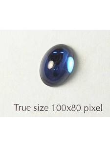 Swar Oval Stone Dark Sapphire
