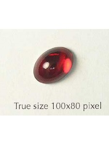 Swar Oval Stone Siam Red