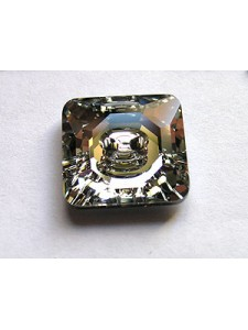 Swar Square Button 16mm Clear Foiled