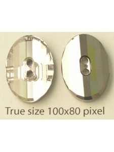 Swar Oval Button 14mm Clear MF