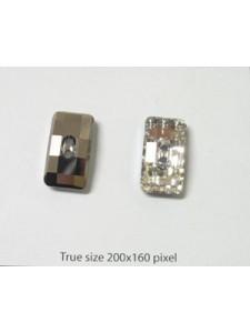 Swar Chessboard Button 21x11mm Clear MF