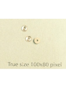 Swar Round Button w/hole 3mm Clear F