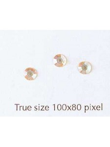 Swar Flat Round Stone with hole 4mm AB