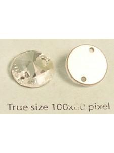 Swar Round sew-on Stone 12mm Clear F