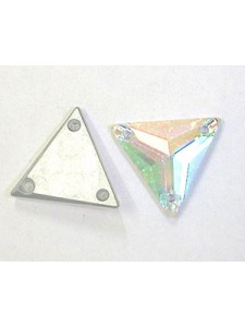 Swar Sew-on 16mm Triangle AB Foiled