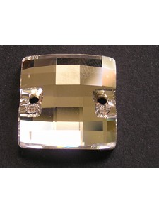 Swar Sew-on Checkerboard 20mm Clear