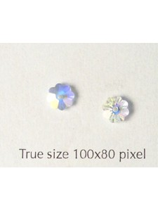 Swar Floral Button 6mm Clear AB Unfoiled