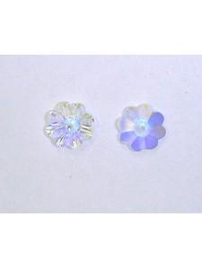 Swar Floral Button 10mm AB Unfoiled