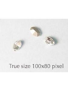 Swar Oval Stone 6x4mm Clear Foil