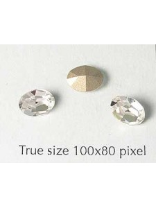 Swar Oval Stone 8x6mm Clear Foil