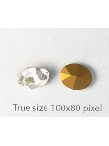 Swar Oval Stone 10x8mm Clear F