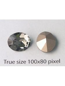 Swar Oval Stone 12x10mm Black Diam