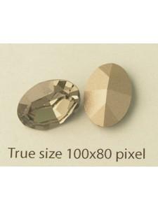 Swar Oval Stone 14x10mm Black Diamond F