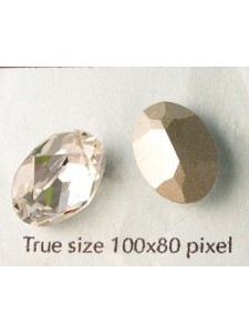 Swar Stone Oval 14x10mm Clear foiled