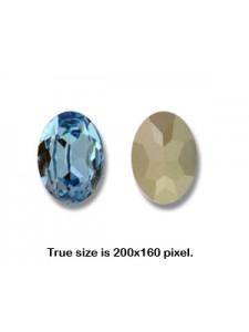 Swar Oval Stone 25x18mm Aquamarine