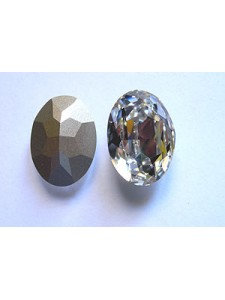 Swar Oval 25x18mm Clear foiled