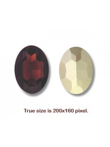 Swar Oval Stone 30x22mm Burgundy