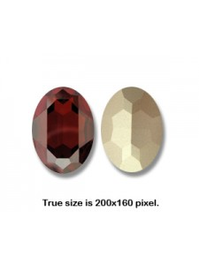 Swar Oval Stone 30x22mm Red Magma