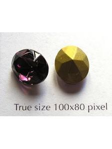 Swar Oval Stone Fac 12x10mm Amethyst GF