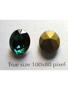 Swar Oval Stone Fac 12x10mm Emerald GF