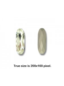 Swar Long Classical Oval 27x9mm Clear F