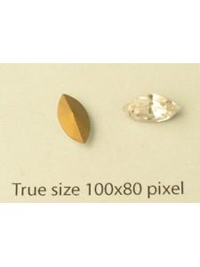 Swar Navette 10x5mm Clear GG (Tablecut)