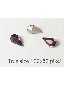 Swar Stone Drop 8x4.8mm Amethyst Foil