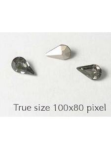 Swar Stone Drop 8x4.8mm Black Diamond