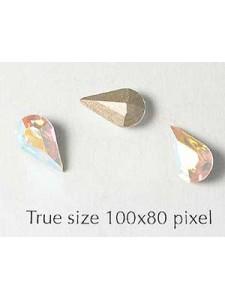 Swar Stone Drop 10x6mm Clear AB Foil
