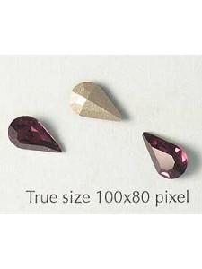 Swar Stone Drop 10x6mm Amethyst Foil