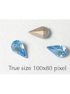 Swar Stone Drop 10x6mm Aquamarine