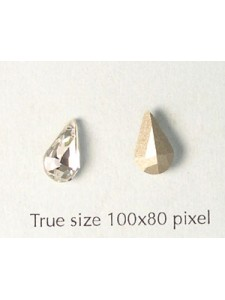 Swar Stone Drop 10x6mm Clear Foiled