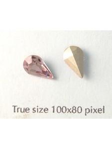 Swar Stone Drop 10x6mm Light Amethyst