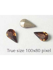 Swar Stone Drop 10x6mm Smoked Topaz