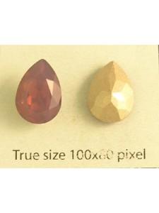 Swar Drop Stone 14x10mm Cyclamen Opal