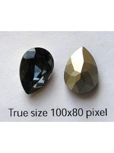 Swar Drop Stone 14x10mm Graphite