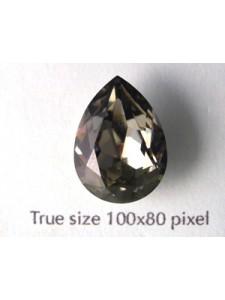 Swar Drop Stone 18x13mm Black Diamond F
