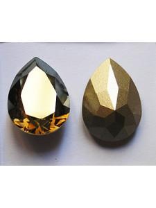Swar Drop Stone 18x13mm Bronze shade
