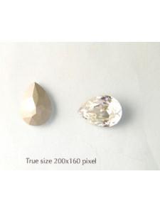 Swar Drop Stone 18x13mm Clear F