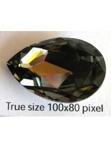 Swar Teardrop 30x20mm Black Diamond F