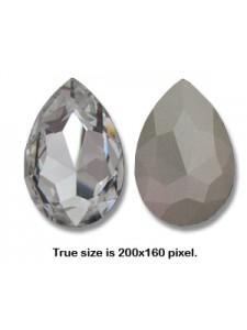 Swar Pear Stone 40x27mm Clear F