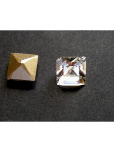 Swar Square Stone 8mm Clear Foiled