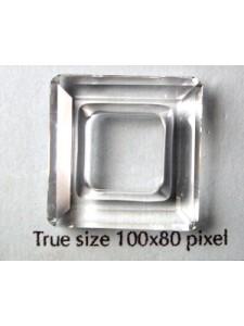Swarovski Square Stone 20mm Clear UF