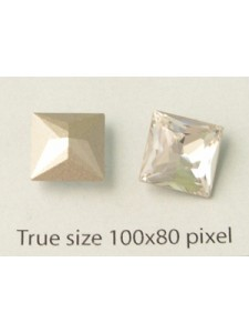 Swar Square Stone 10mm Clear Foiled